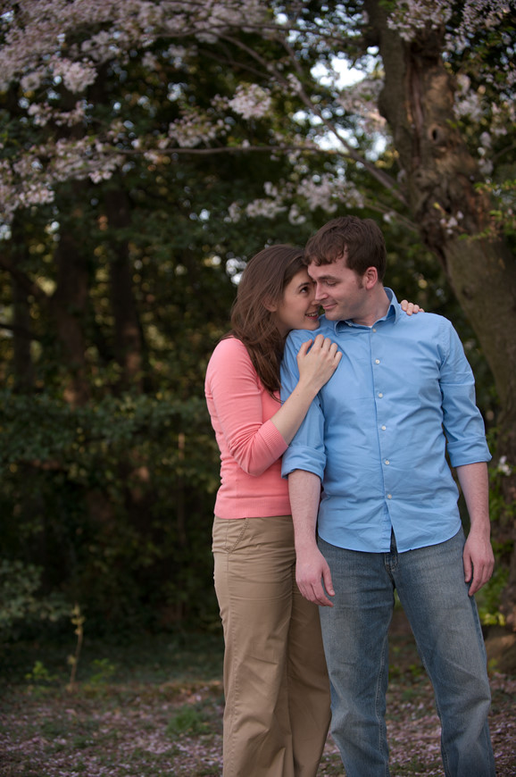Engagement session at the cherry blossom festival by Washington DC wedding photographer Ben Rasmussen Photography