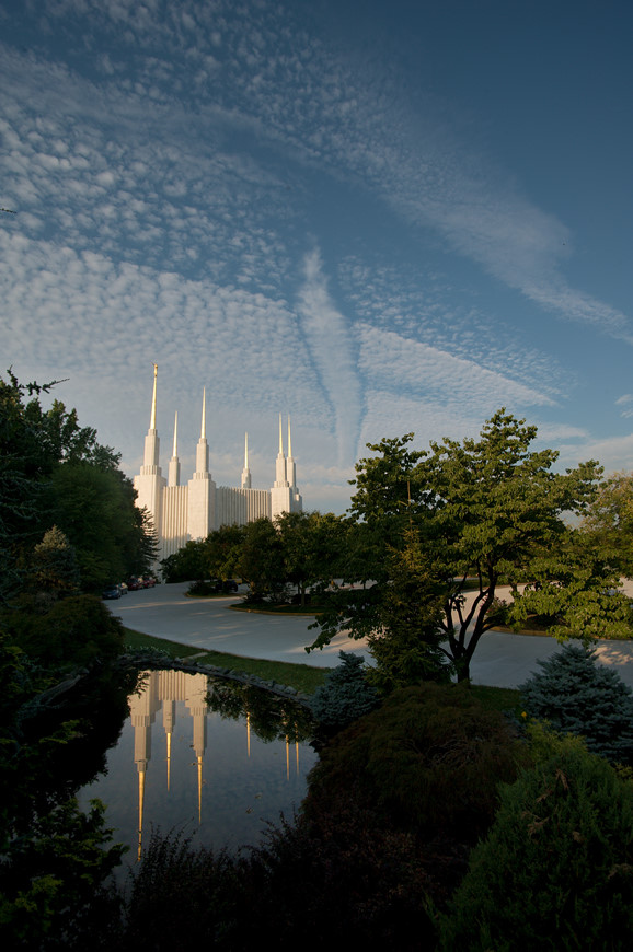 LDS Washington DC Temple in Kensington, MD by Washington DC Wedding Photographer Ben Rasmussen Photography